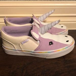 e31b96928b Vans Shoes - Vans Kids Asher Unicorn Slip Ons